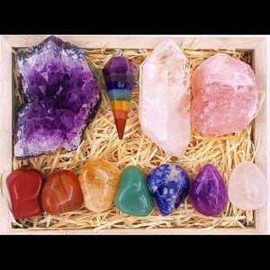 Premium Healing Crystals chakra balancing kit